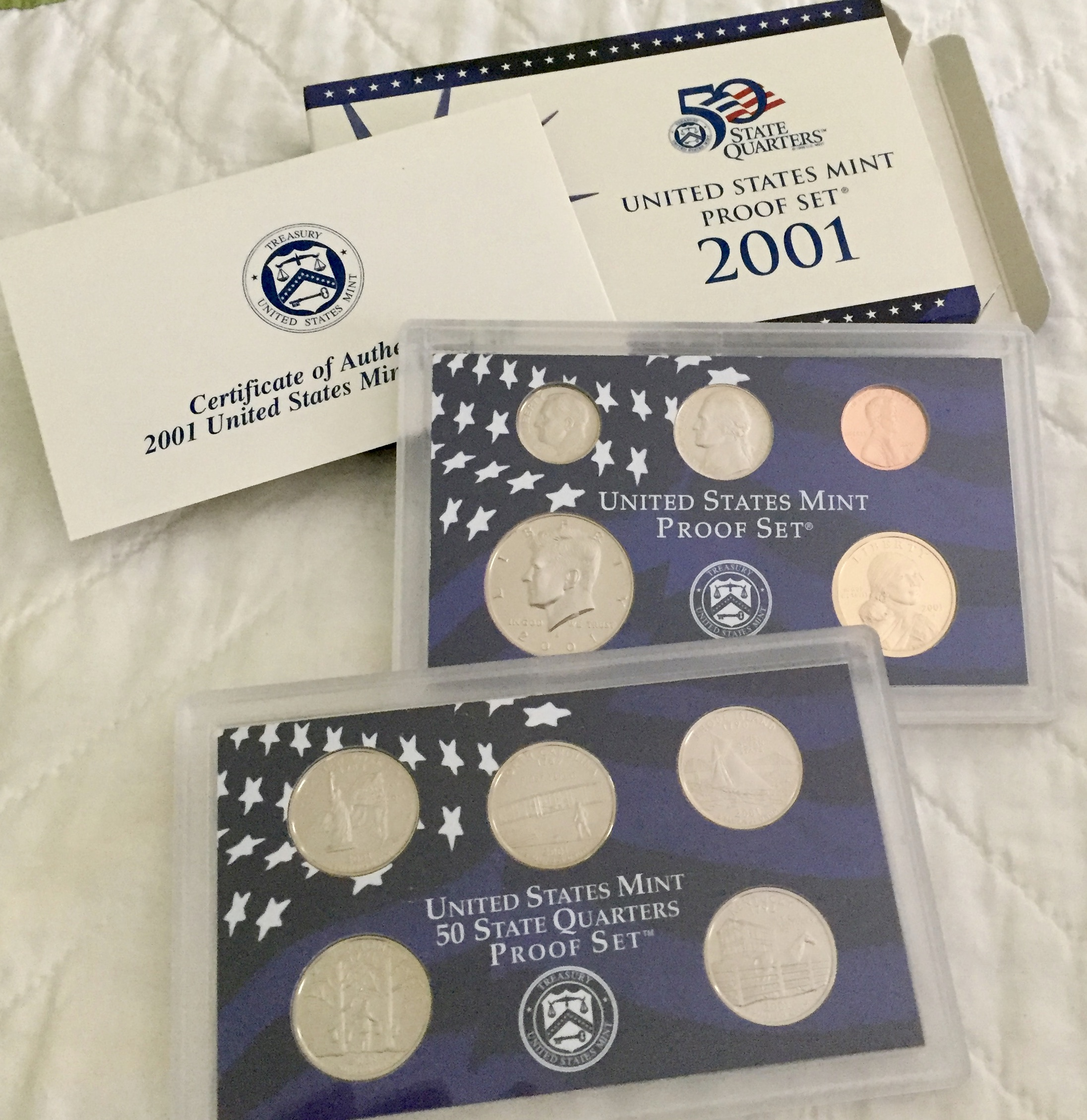 Item HG 17 - 2001 US Mint Proof Set of 10 Coins - WOWG