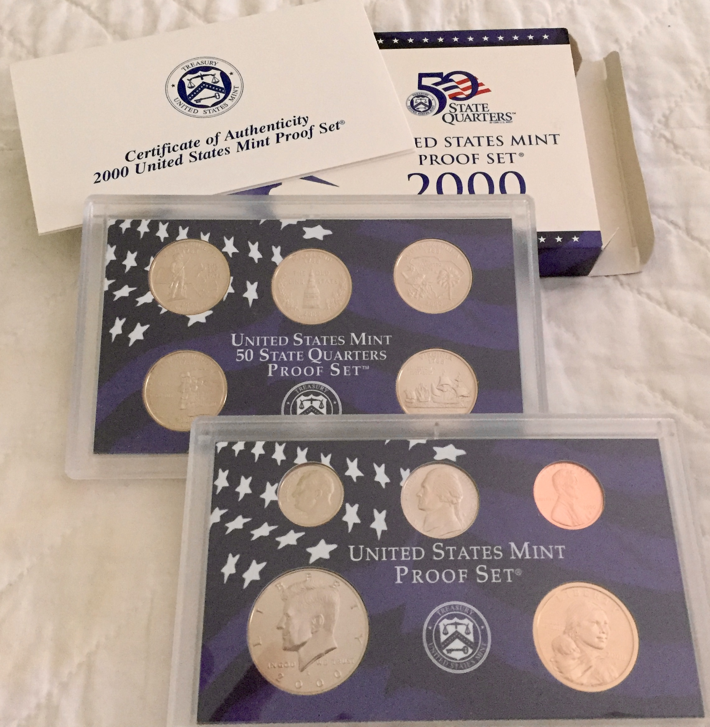 Item HG 16 - 2000 US Mint Proof Set of 10 Coins - WOWG
