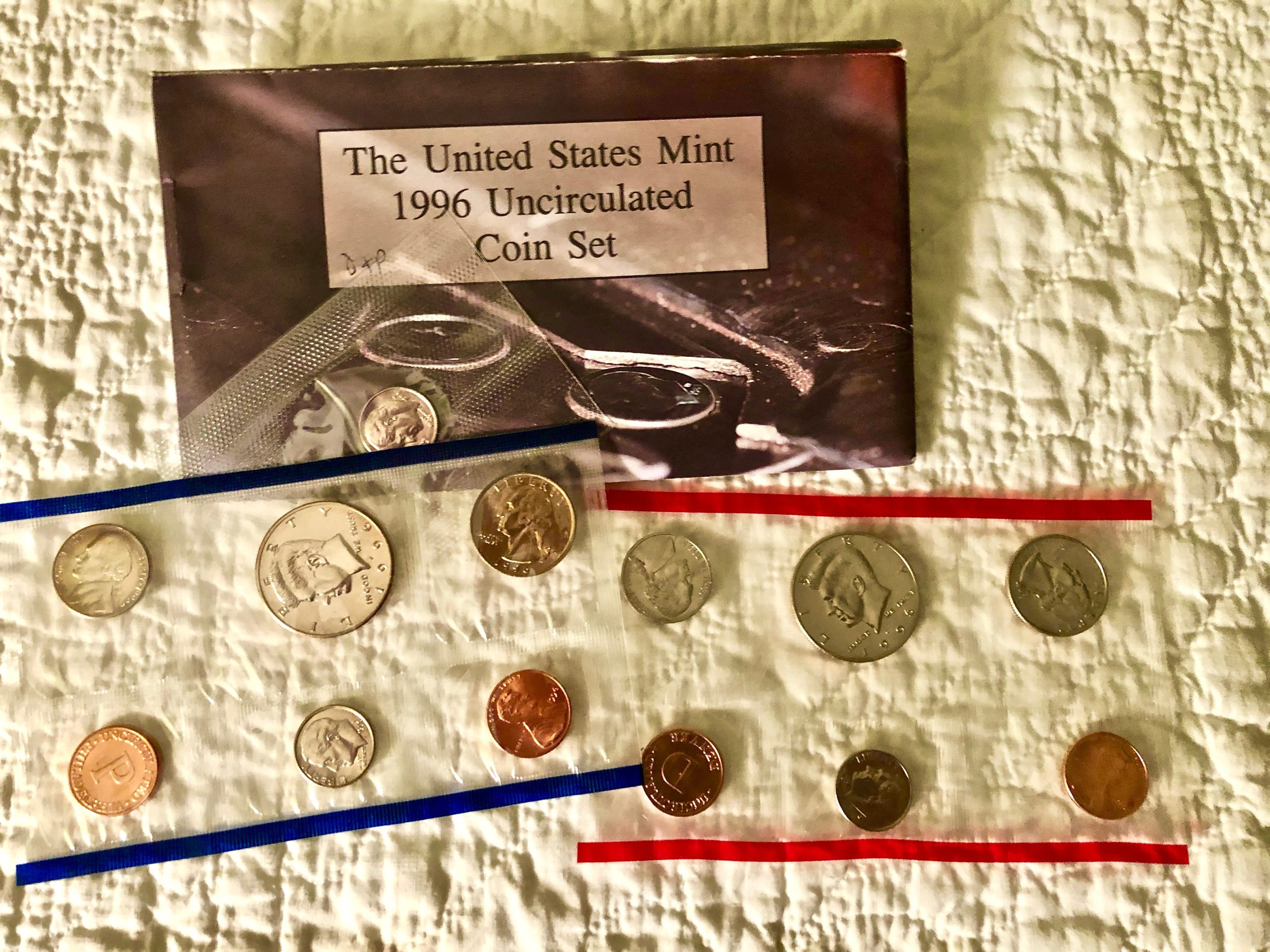 Item HG 15 - 1996 US Mint Uncirculated Coin Set of 10 Coins - Wow