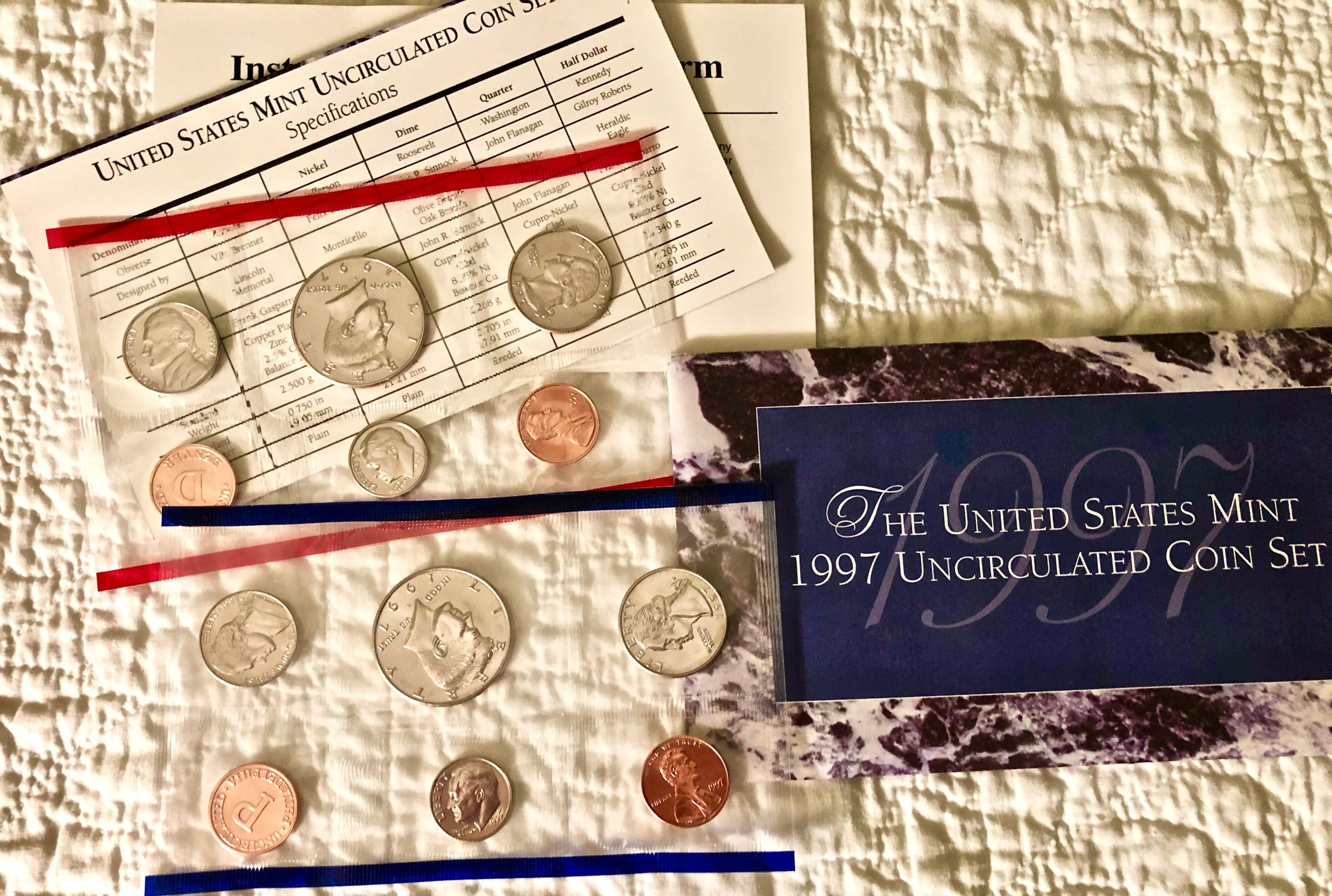 Item HG 16 - 1997 US Mint Uncirculated Coin Set of 10 Coins