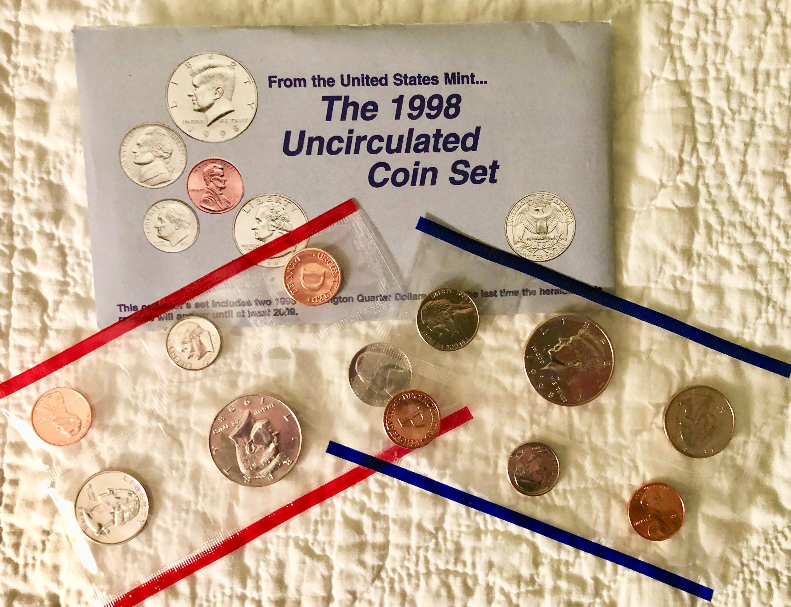 Item HG 17 - 1998 US Mint Uncirculated Coin Set of 10 Coins