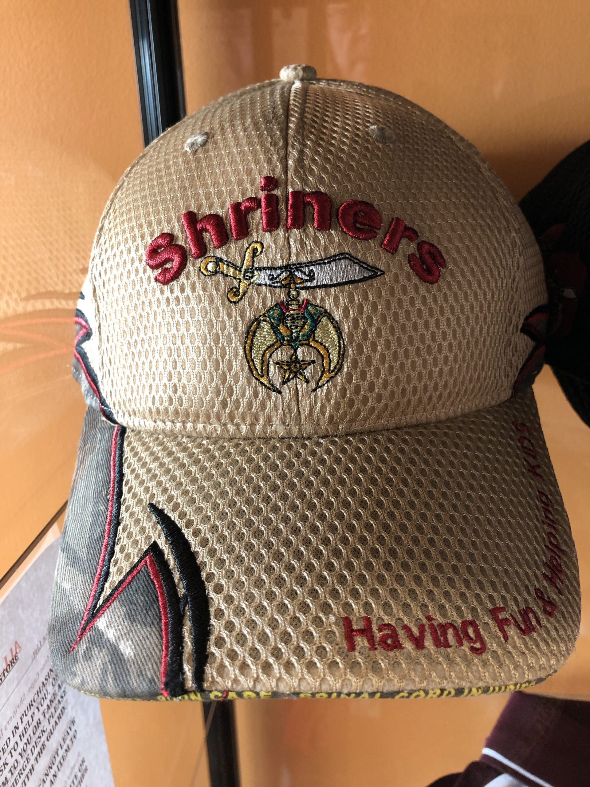 Item SH 3 - Shriners Cap with Camo on the side