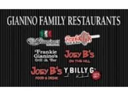 Item FP 9 - $15 Gift Card from Gianino Group, that Includes Joey B's, Gianino's and Billy G's